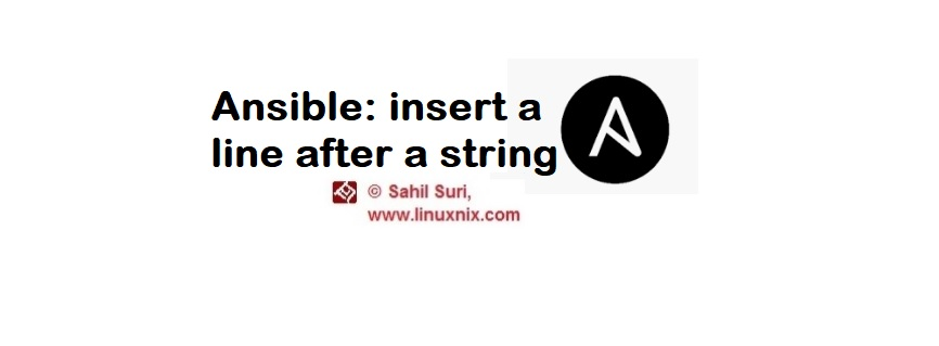 Ansible insert a line after a string