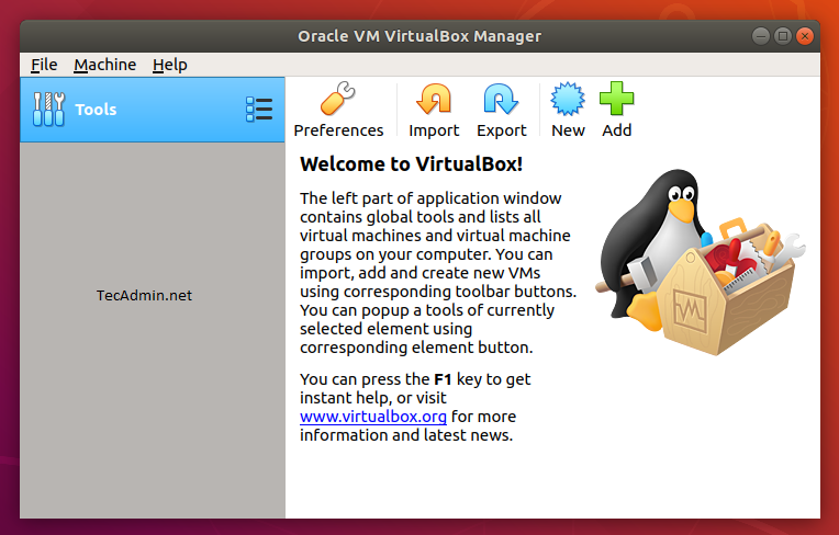 Virtualbox on ubuntu1804