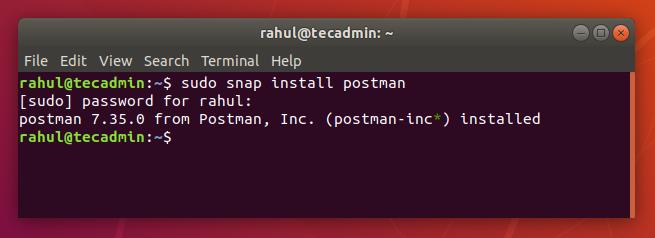 installing postman ubuntu 18 04